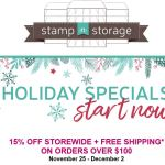 stamp-n-storage holiday sale