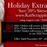 Kat Scrappiness Black Friday Sale