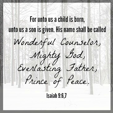 Isaiah 9:6,7