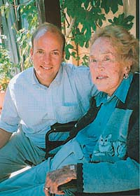 Alex Prud'homme with his great-aunt, Julia Child