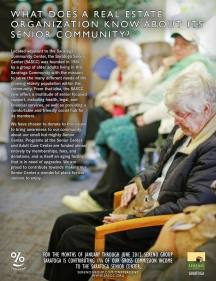 Sereno One Percent for Good Ad - Saratoga Senior Center