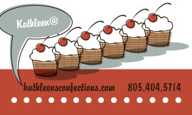 Kathleen's Confections Business Card Back