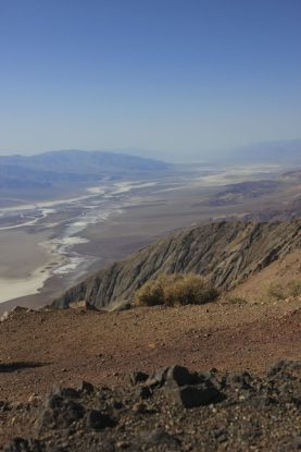 Overlooking the vastness of Death Valley