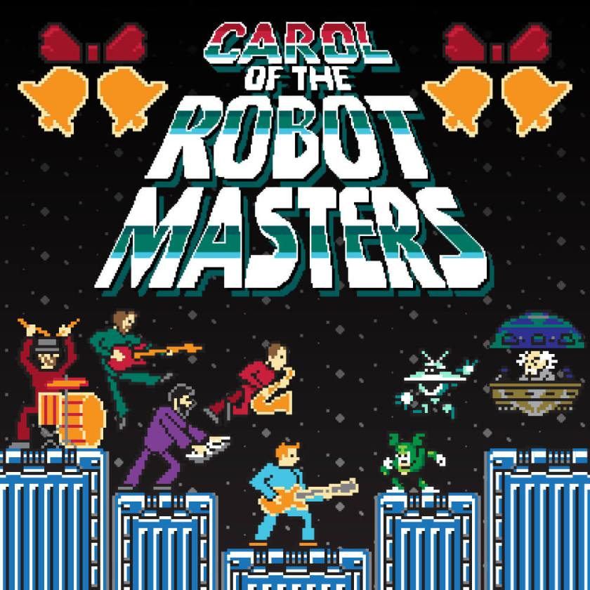 Carol of the Robot Masters Cover Art 8-bit