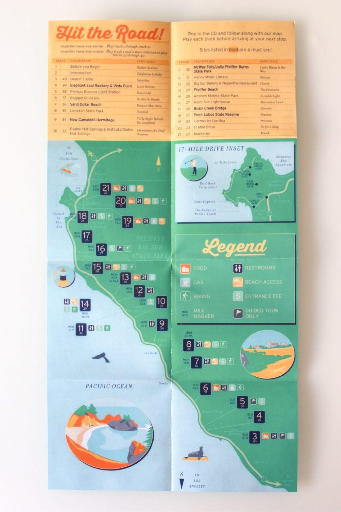 Big Sur 7 Map 1