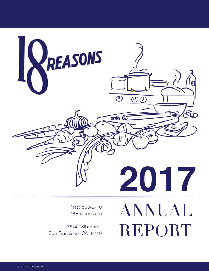 18Reasons Annual Report Cooking Classes Community outreach