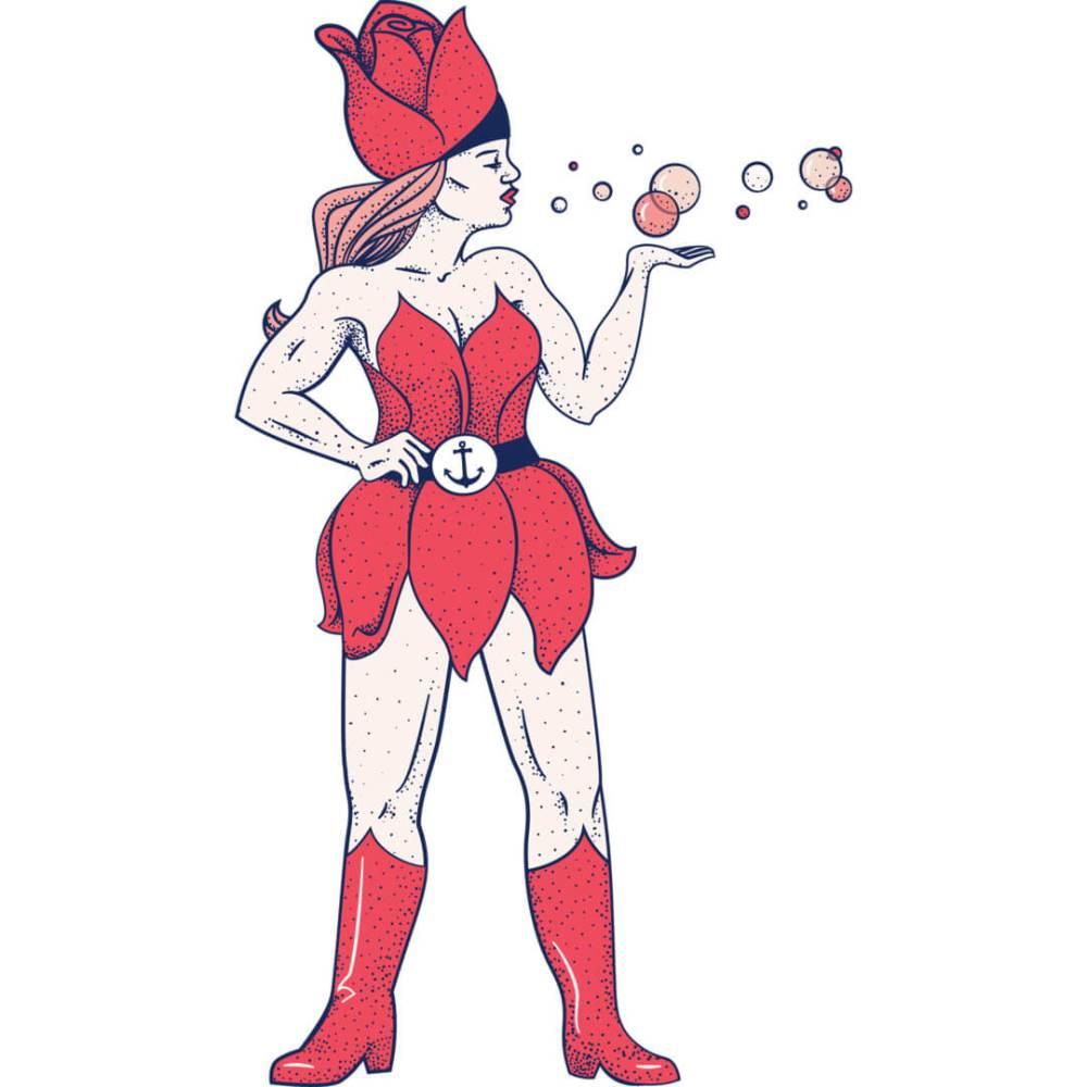 Health-Ade kombucha Bubbly Rose Superhero