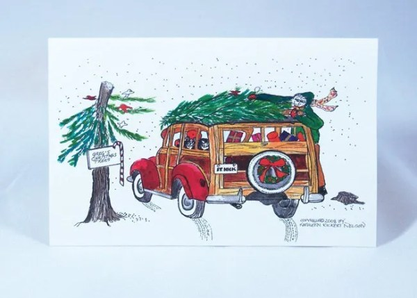 Christmas in the country notecard