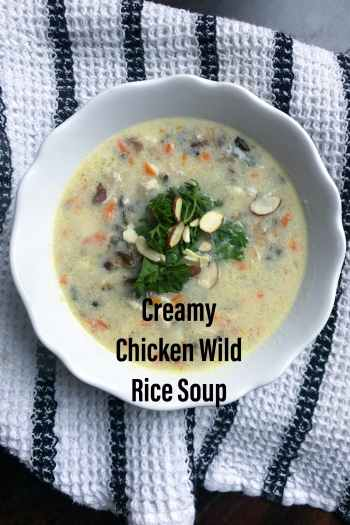 Creamy Chicken Wild Rice Soup. Perfect option to use up extra chicken. KathleensCravings.com