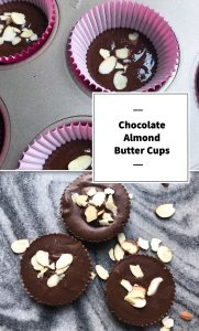 Satisfy a sweet tooth and a chocolate craving. These Chocolate Almond Butter cups are quick to mix up and use all pantry staples. You'll want to always have some in your freezer. Kathleenscravings.com