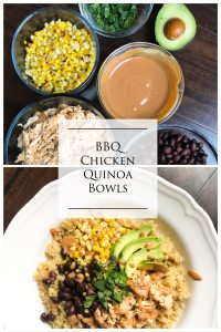 Quick to toss together with leftovers, these BBQ Chicken Quinoa bowls are satisfying and loaded with protein to fill you up. Meal prep friendly, these need to be on your menu for the week. Kathleenscravings.com