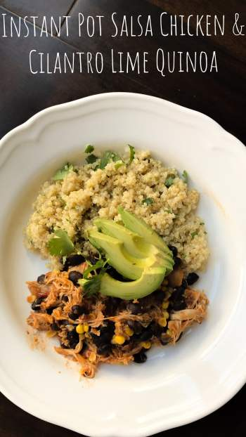 Let your Instant Pot do the work for your next weeknight meal or meal prep. Super filling from the chicken, beans, and quinoa, this is a great, healthy meal that's easy to throw together.