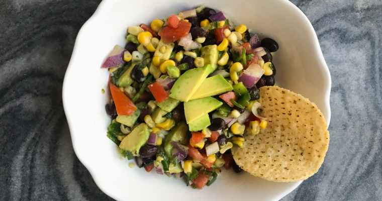 Corn, Bean, & Avocado Salsa