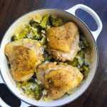 One-Pot Chicken Thighs with Broccoli Rice. A simple one-pot weeknight meal that packs big flavor. A complete dinner on your table with just one dish to clean up.