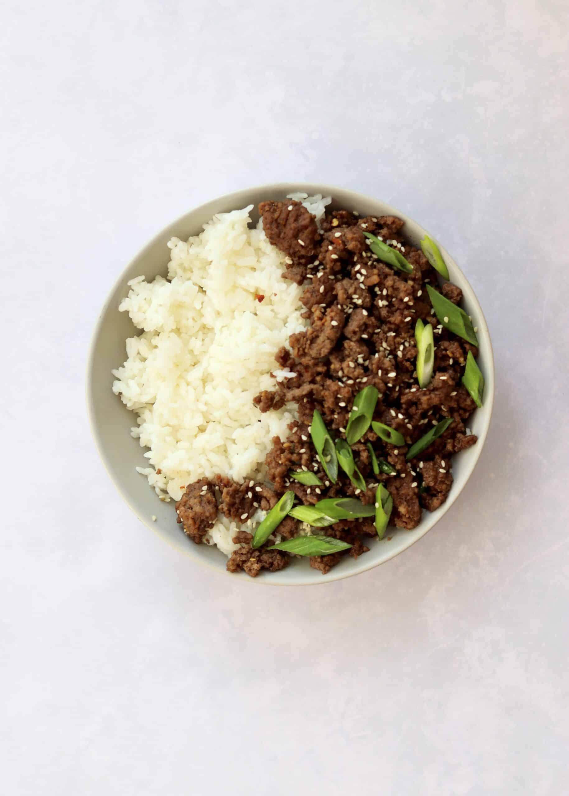 Easy 15-Minute Korean Ground Beef Bowls