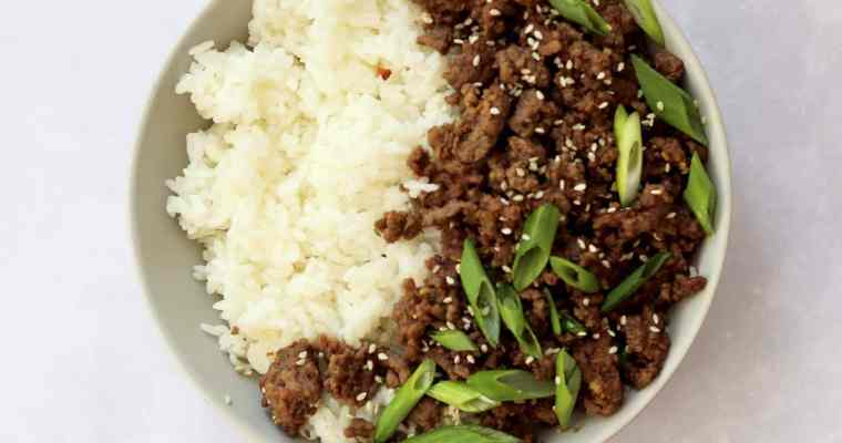 Easy 15-Minute Korean Ground Beef Bowls