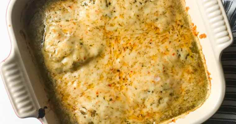3-Ingredient Salsa Verde Chicken Bake