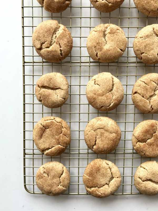 These Extra Soft Snickerdoodles are simple to mix up and require no chilling! Just make the dough, roll the dough balls in cinnamon sugar, and bake. Super soft, thick, and puffy they keep for days. Recipe at KathleensCravings.com #holidaycookies #christmascookies
