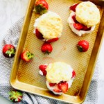 "data-pin-description=""Classic Strawberry Shortcake requires a light and tender biscuit, sweet and sugary strawberries, all topped off with fluffy whipped cream. We elevate the traditional Strawberry Shortcake by adding Crème Fraîche to our homemade whipped creme. Recipe at Kathleenscravings.com #strawberrycake #strawberrydessert #strawberryshortcake #strawberryrecipes #cremefraiche"""