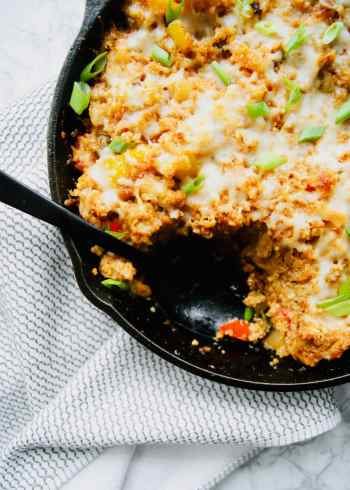 Fajita-chicken-quinoa-bake-with-piece-missing
