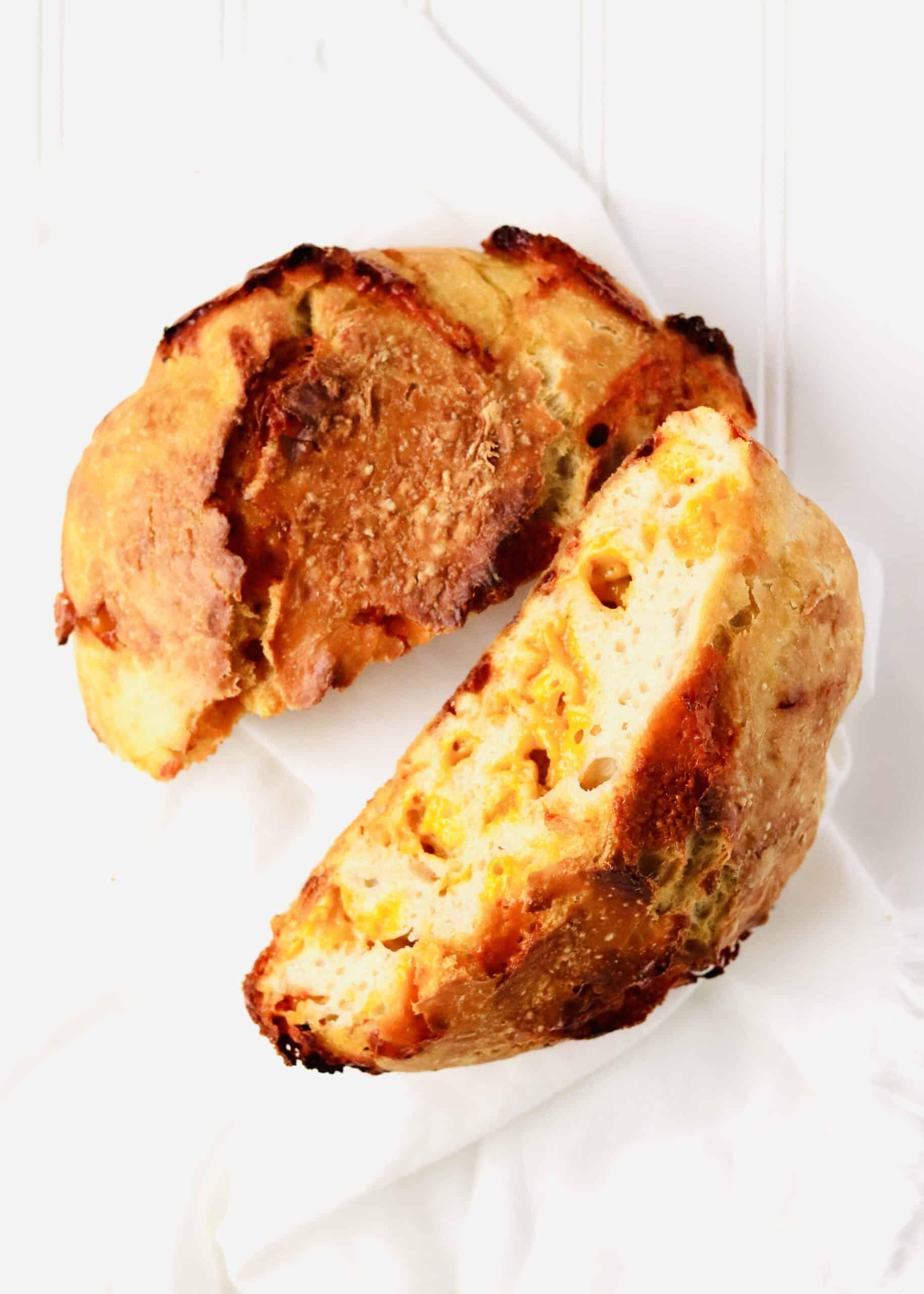 No-Knead Cheese Bread