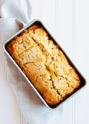 Honey Beer Bread in Loaf pan