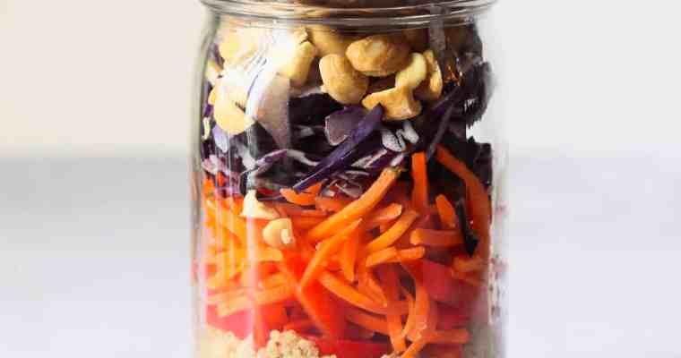 Thai Quinoa Mason Jar Salads