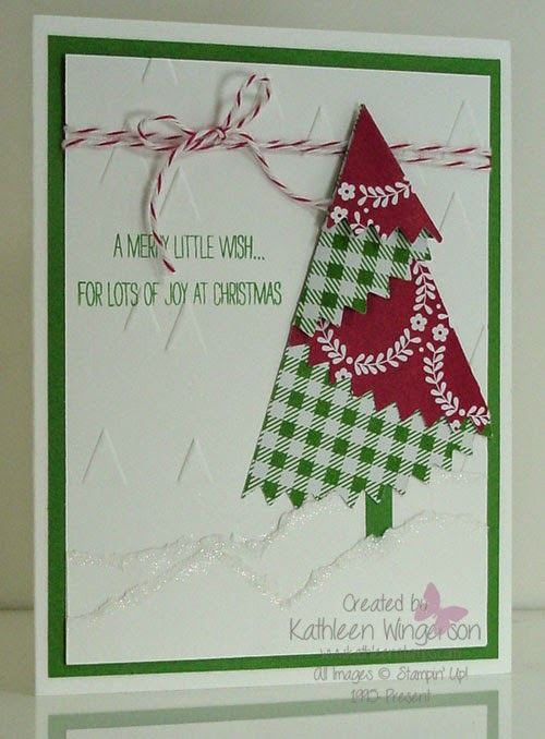 Festival Of Trees Joy At Christmas Card Stampin Up