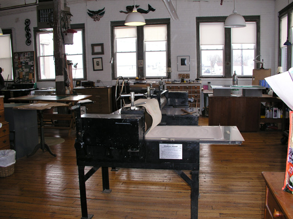 The Intaglio press we used at West Cove studio