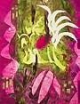 Succulent Suavage, Kathleen Thoma, monotype, 8 x 10