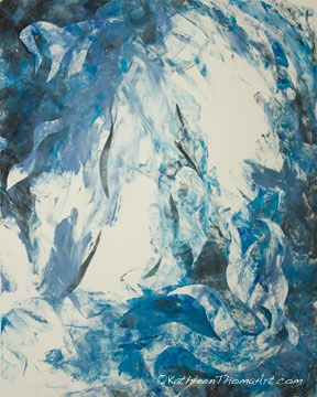 Kathleen Thoma, Ice Wave, monotype, 11x14 inches