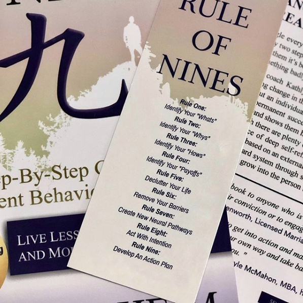 the rule of nines step by step for goal achievement book about self-discovery and change of habits by author and coach kathlyn heim