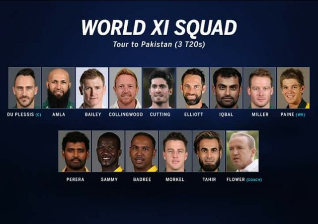 World XI squad for 2017 Pakistan series.