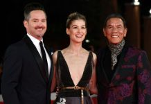 director Scott Cooper actress Rosamund Pike and actor Wes Studi