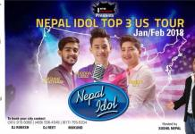Nepal Idol USA Tour 2018 schedule