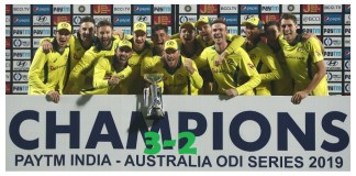 Australia strangled India to clinch a series by 3-2