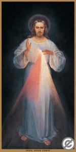Das erste Bild vom Barmherzigen Jesus, gemalt in Anwesenheit der Heiligen Maria Faustyna Kowalska Lizenz: Gemeinfrei