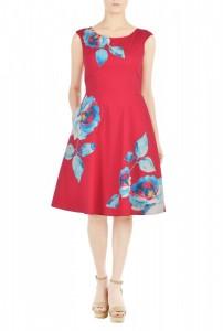eShakti Floral Print Dress - Kathrine Eldridge, Wardrobe Stylist