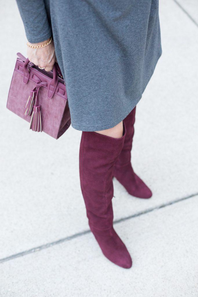 Grey and Shades of Oxblood - Kathrine Eldridge, Wardrobe Stylist
