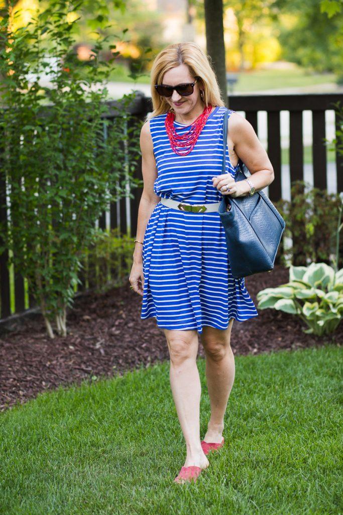 Make Me Chic Wishlist - Blue Striped Dress