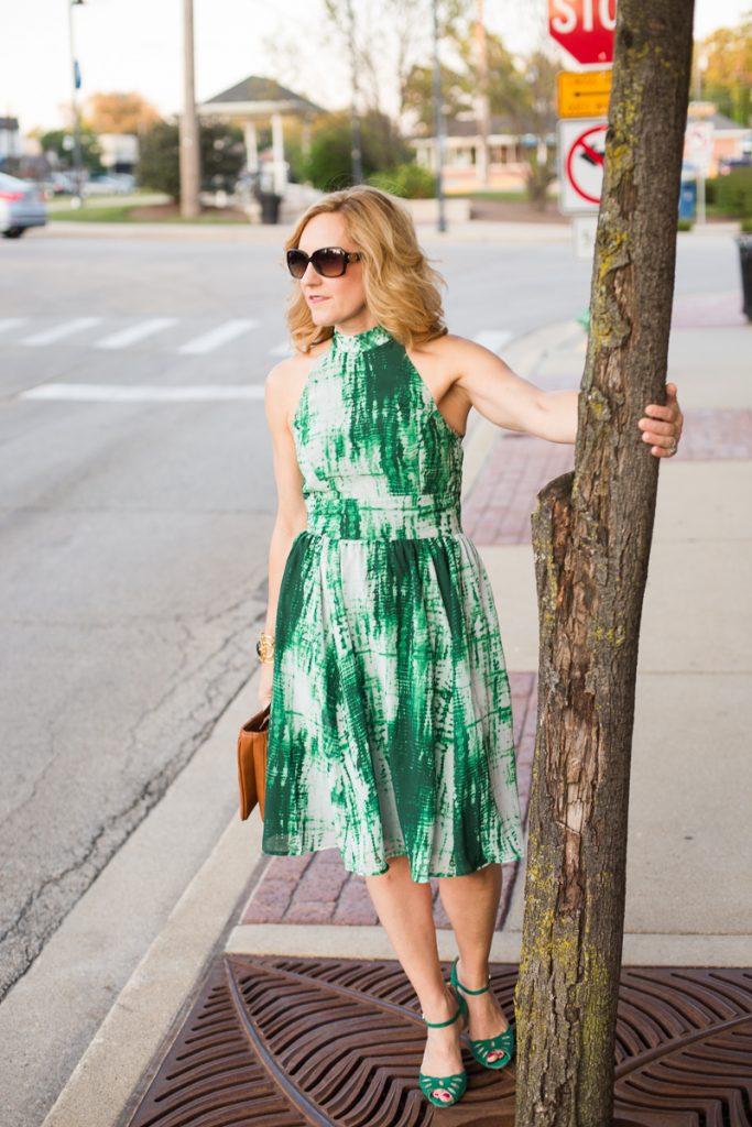 Tie Dye Print Dress by eShakti
