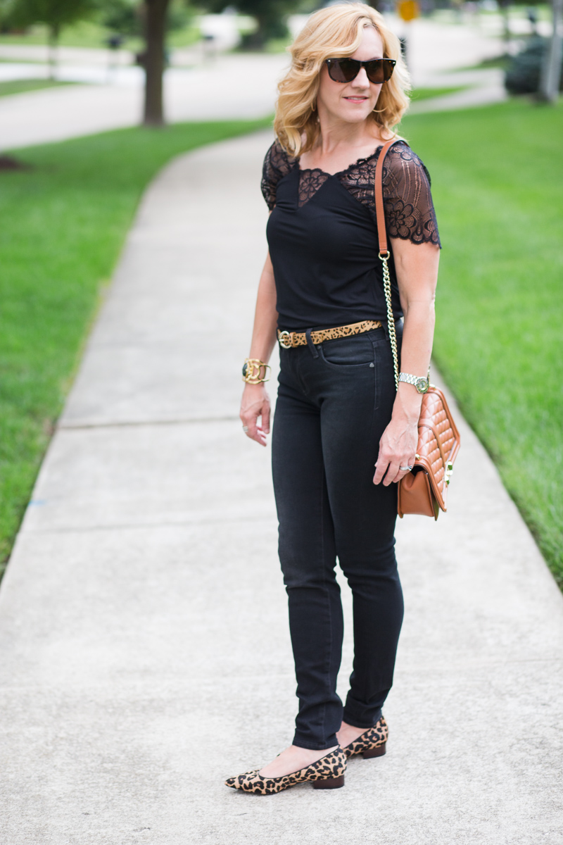 Black Jeans with leopard accessories