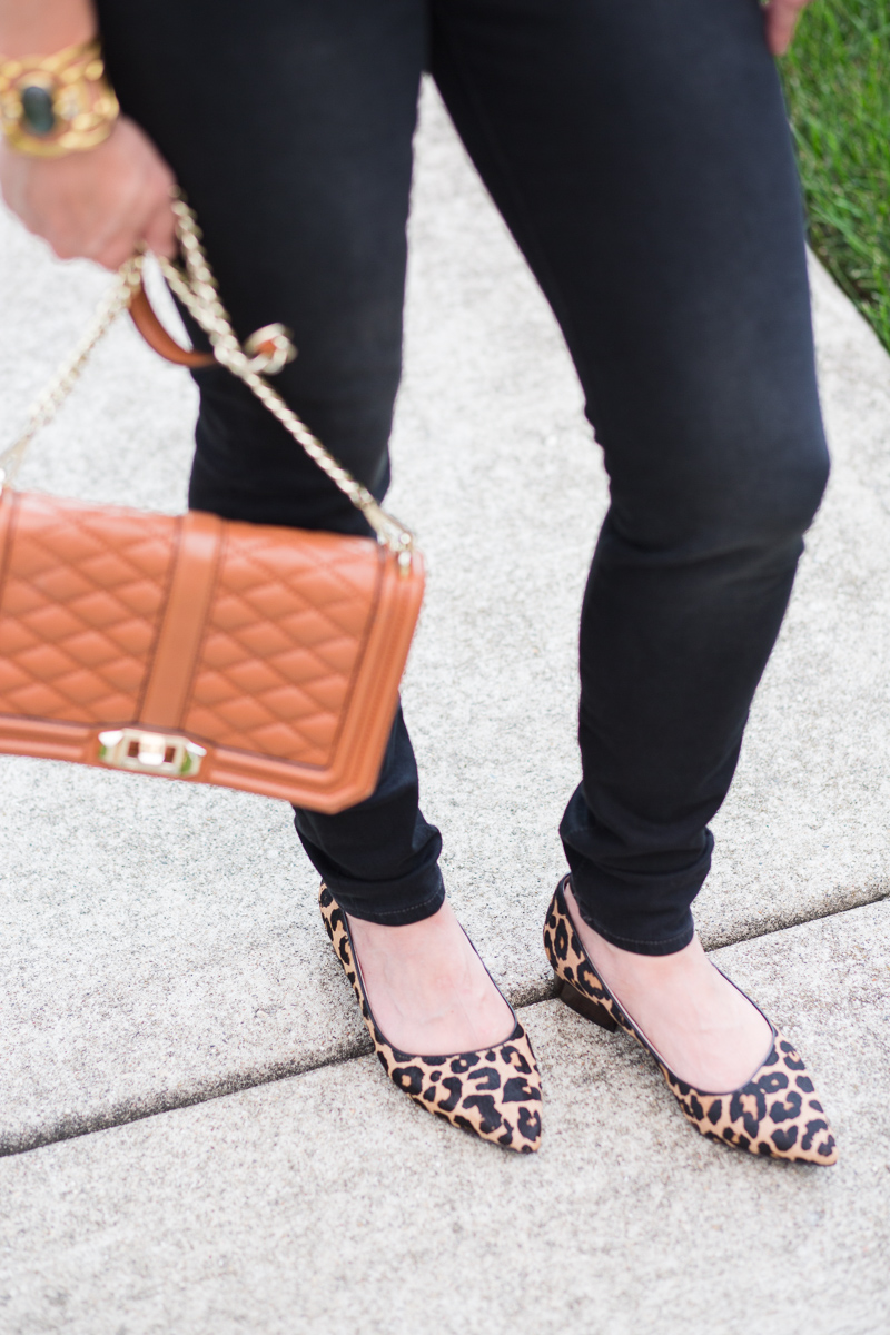 Cole Haan Leopard Flats with Rebecca Minkoff Cross Body Bag