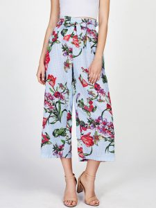 Mixed Print Culotte Pants by Make Me Chic