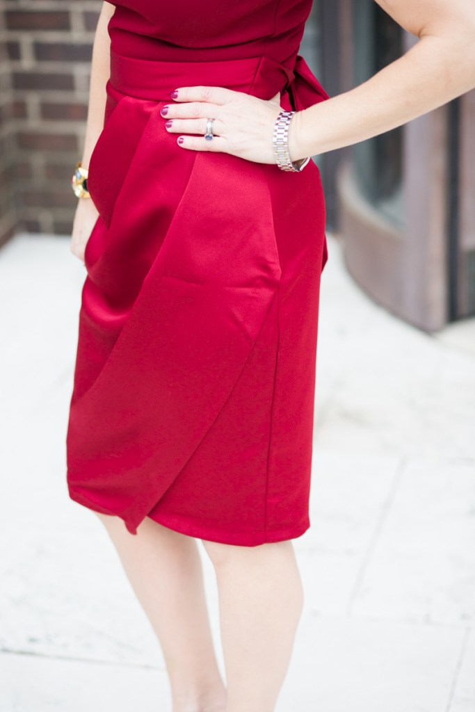 Draped Detail from Red Closet London Dress