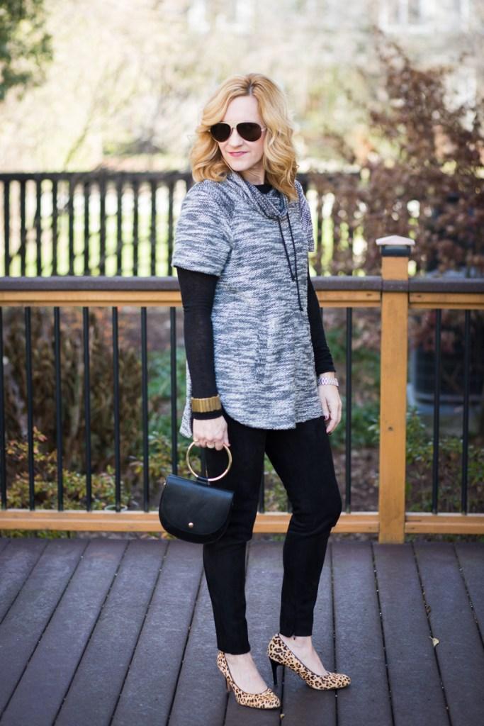 Cowl Neck Sweater Chic + Vuliwear Sunglasses
