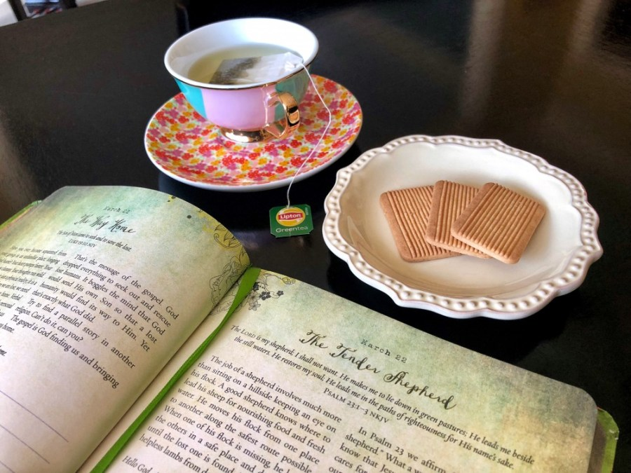 Afternoon Tea with my 365 Day Devotional Journal