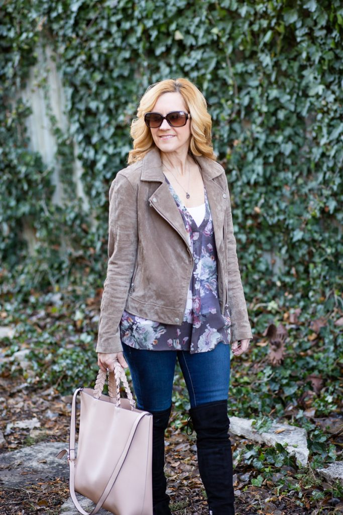 Taking spring pieces and mixing the for a chic winter look.