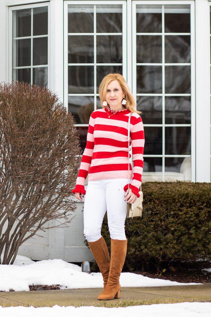 Valentine's Day Striped Top by Kathrine Eldridge, Wardrobe Stylist