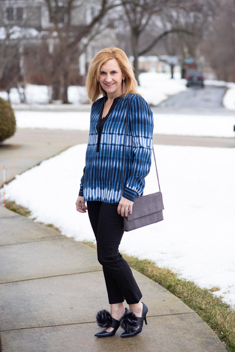 Faux Fur Winter Blues by Kathrine Eldridge, Wardrobe Stylist